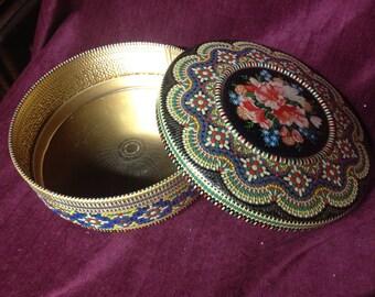 Vintage Ornate Decorative Tin