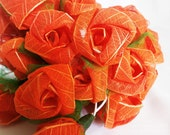 Carnelian Rose Romantic flowers String Lights For Wedding and House decoration (20 Flowers/Set)
