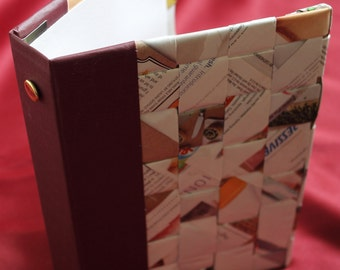 Handmade books with recycled materials