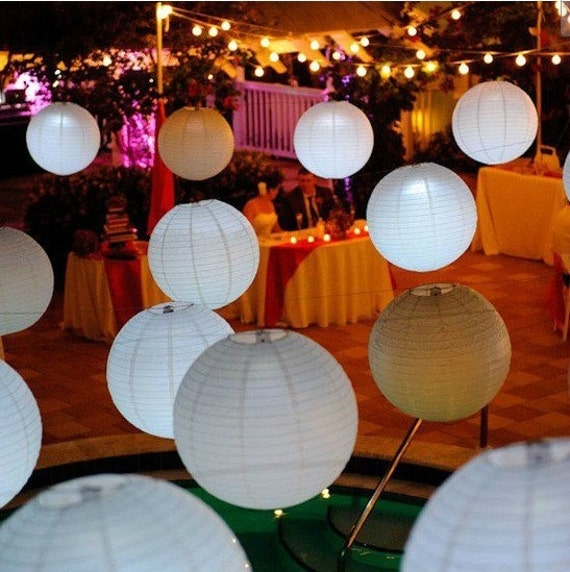 """Paper Lanterns Ottawa Wholesale Weddings By Pritchard: Items Similar To 50pcs 10"""" Ball Candy Color Chinese Light"""
