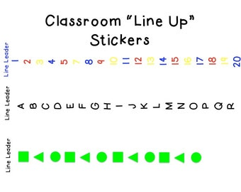 Classroom nautical schedule or jobs cards printable for Floor number line