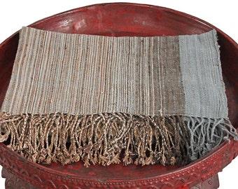 Natural Dye Handwoven Organic Cotton Stole(TX-073-02)