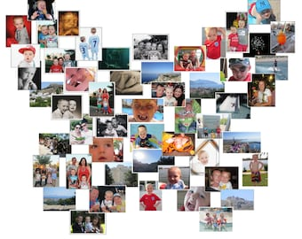 """Personalised Photo canvas collage arranged as a butterfly 20 x 20"""""""