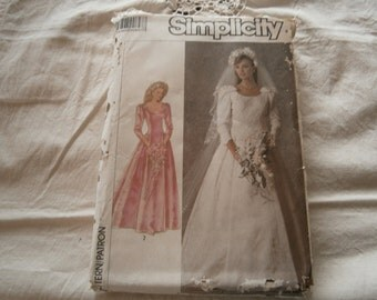 1987 Bridal Pattern, Simplicity 7937