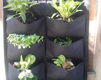 Vertical Garden Planter  -  8 Garden Pockets