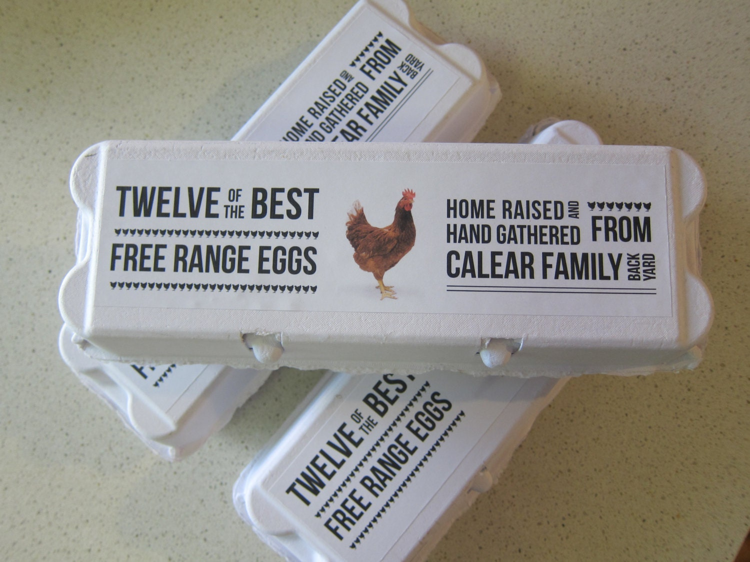 6 personalised dozen egg cartons by designspongestudio on etsy for Design your own egg boxes