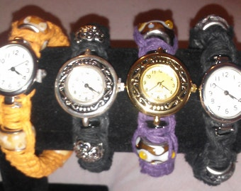 Watch Hookah, Bracelet Pipe, Tobbaco Pipe, Smokewear,Herbal Pipe Watch, Assorted colors and sizes.