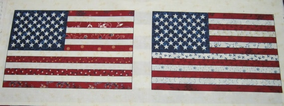 Liberty Ridge Flag Fabric Henry Glass & Co Little Quilts