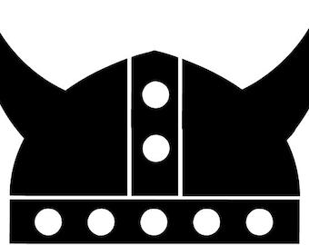 "Viking Helmet 5"" Vinyl Decal Widow Sticker for Car, Truck, Motorcycle, Laptop, Ipad, Window, Wall, ETC"