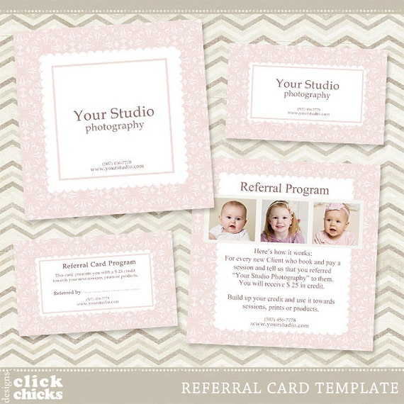 Photography Referral Card Template 5x5 Card & Rep Card