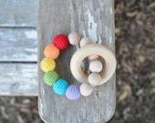 Wood & Crochet Teething Toy