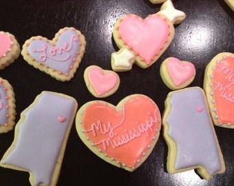 Custom State inspired Cookies - 1 Dozen