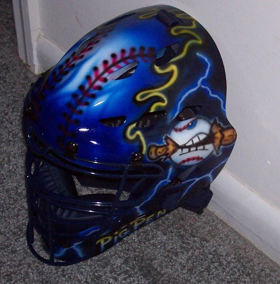 Airbrush Baseball Softball Catchers Helmet Rawlings Cfa1jp