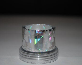 Sale! 3 meters Silver large mosaic holography Metallized foil film coating for nails