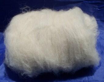 Natural Alpaca Batt in a creamy white