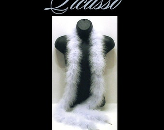 """Marabou Feather Boa LT BABY BLUE great for trim, millinery, wings, costumes, puffs, crafts - 1ft (12"""") strips"""