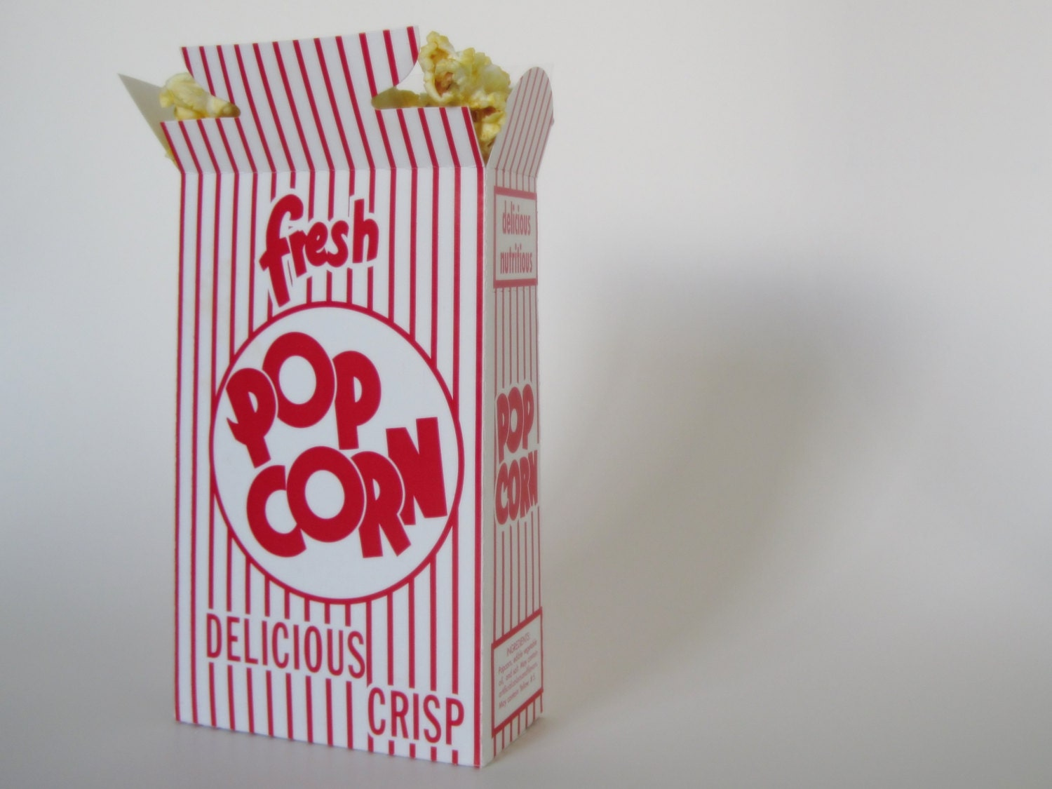 12 Retro Red and White Pop Corn PopCorn Box