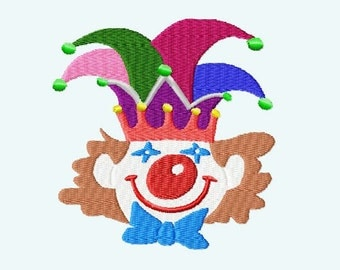 Embroidery pattern - Clown Carnival