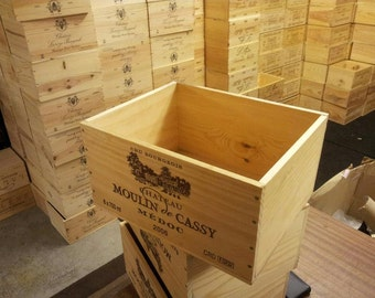 3 xFRENCH WINE BOXES Used wooden crates - Storage solutions hampers shabby chic