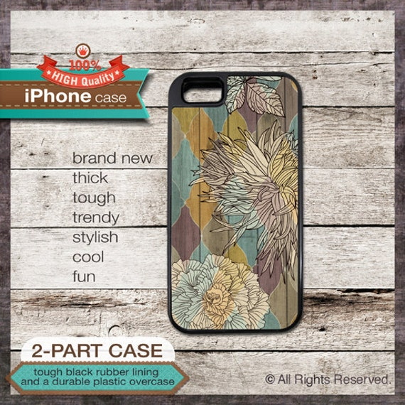 iPhone 6, 6+, 5 5S, 5C, 4 4S, Samsung Galaxy S3, S4 - Floral Design on Pattern - Design Cover 95