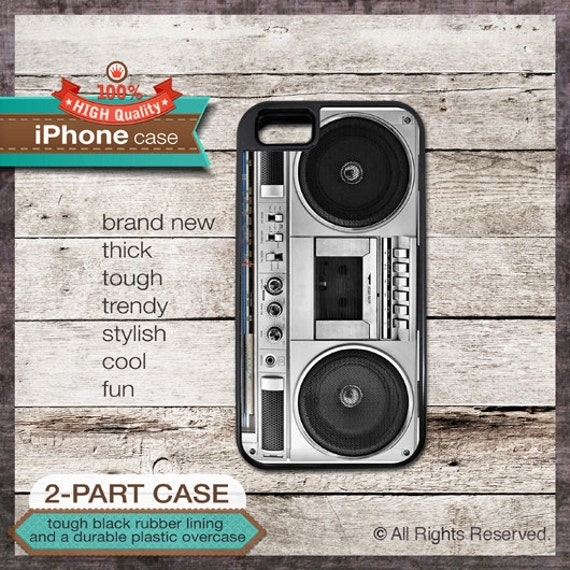 Vintage Boombox Radio  - iPhone 6, 6+, 5 5S, 5C, 4 4S, Samsung Galaxy S3, S4 - Cover 129