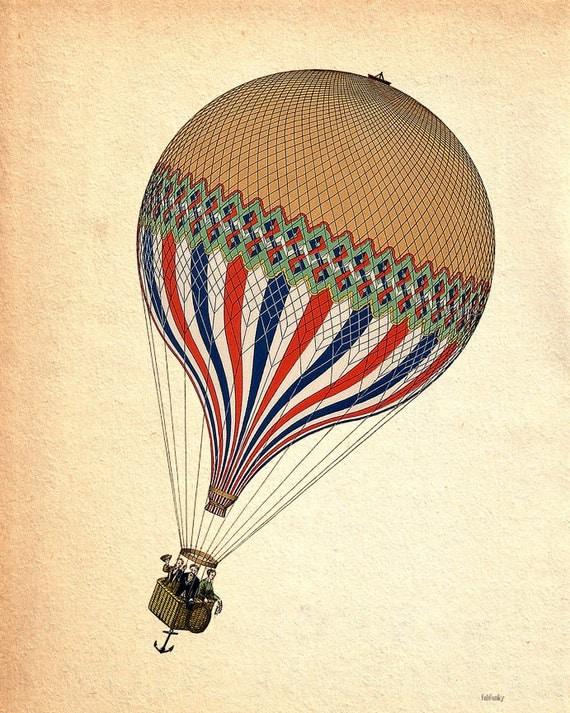 Hot Air Balloon Vintage 7