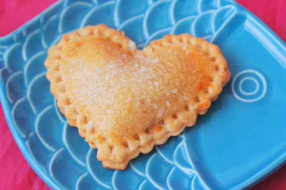 Heart Shaped Hand Pies (12) Edible Favor Valentines Gift Wedding Birthday Bridal Shower Baby Shower Edible Gift