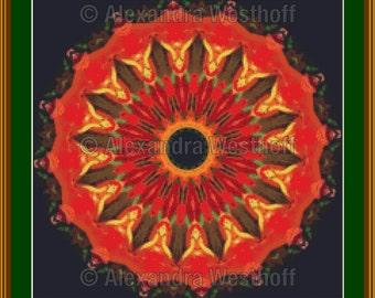 """cross stitch chart """"Kaleidoskop 1a"""""""