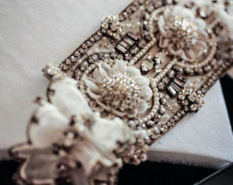 Wedding Garter Set   - MI Antique (Made to Order)