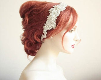 Bridal Hair Accessorie - Roza-2 headpiece (Made to Order)