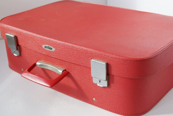 Vintage Luggage 1970s Small Antler Suitcase with Clean Fabric