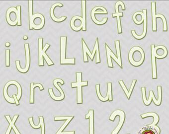 Let it Rain Digital Alphabet Set