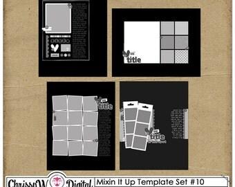 Mixin It Up 10 - 8.5x11 Digital Scrapbooking Templates