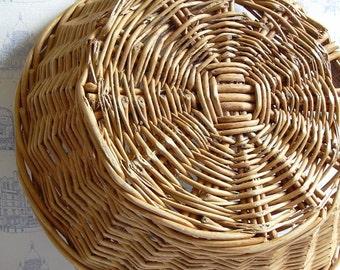 Antique French baker's wicker basket