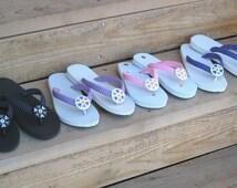 Rhinestone Flip Flops | eBay