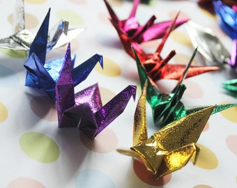 New Arrival 10 x 10cm 100pcs Origami Paper Cranes Craft Crane Paper Goods for Wedding, Christmas, Festival, Anniversary Decor -- Mixed Color