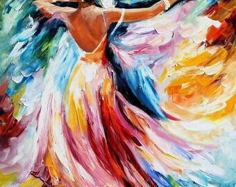 Waltz Oil Painting Ball Wall Art On Canvas By Leonid Afremov