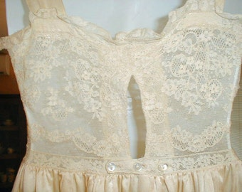 Antique Silk and Lace Nightgown c. 1910