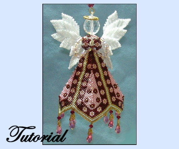 Christmas Ornament Angels From Office Supplies: Petal Angel Beaded Ornament