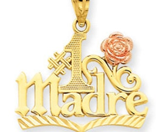 Two Tone Gold #1 Madre Pendant (JC-043)