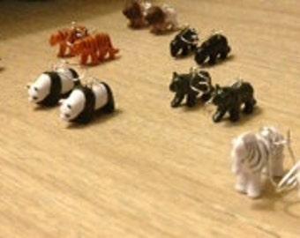 toy animal earrings