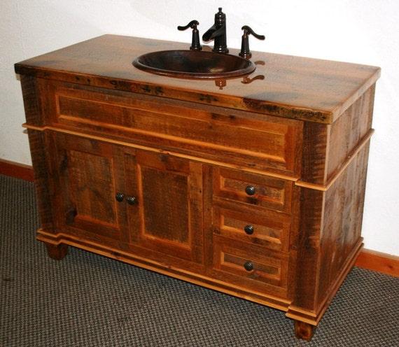 Barnwood Vanity Antique Reclaimed Wood By Barnwoodfurniture72