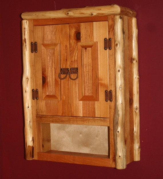 CEDAR LOG Reclaimed Cedar TOILET Cabinet Rustic Toilet