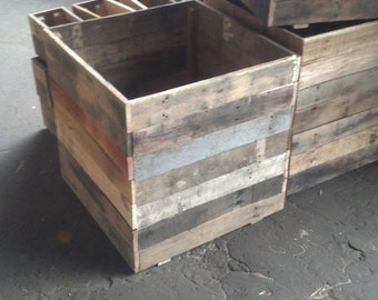 """16"""" cubed - Recycle Pallet Planters"""
