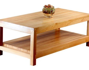Solid White Oak Coffee Table
