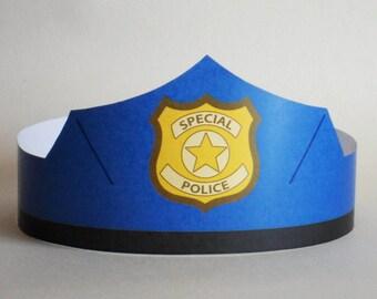 Police Paper Crown - Printable