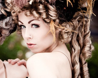 Rococo wig - historical wig with jewelry