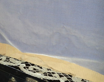 "Antique French Silk Velvet Yardage Old Store Stock 1890s Made in France ""Gray Lilac"""