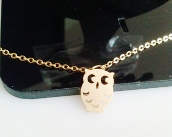 Owl necklace,gold owl necklace,owl charm necklace,mom sister grandmother gift,small cute pendant,owl, Christmas gift
