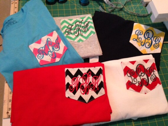 chevron pocket t shirts custom monogrammingchildren pocket